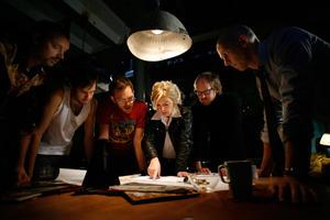 "Johannes Bjork, Fredrik Myhr, Marcus Haraldson Boij, Sanna Persson Halapi, Magnus Borjeson and Anders Vestergard in ""Sound of Noise."""