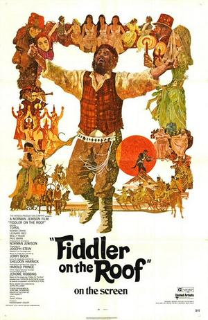 "Poster art for ""Fiddler on the Roof."""