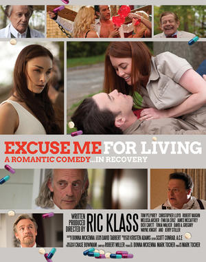 """Poster art for """"Excuse Me For Living."""""""