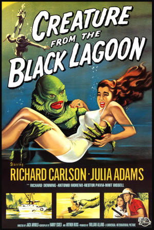 """Poster art for """"Creature From the Black Lagoon."""""""
