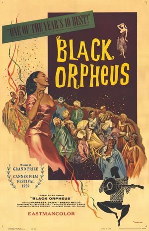 """Poster art for """"Black Orpheus."""""""