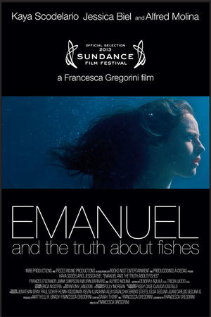"Poster art for ""Emanuel and the Truth About Fishes."""