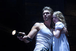 "Chad Michael Murray as Andy Wyrick and Emily Alyn Lind as Heidi Wyrick in ""The Haunting in Connecticut 2: Ghosts of Georgia."""