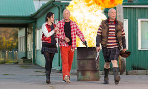 "Mary-Louise Parker, Bruce Willis and John Malkovich in ""Red 2."""