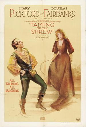 "Poster art for ""The Taming of the Shrew."""