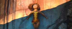 "Eep voiced by Emma Stone in ""The Croods."""