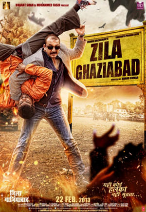 "Poster art for ""Zila Ghaziabad."""