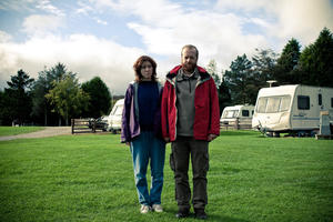 "Alice Lowe as Tina and Steve Oram as Chris in ""Sightseers."""