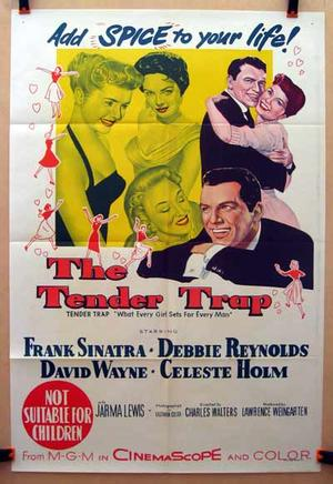 """Poster art for """"The Tender Trap."""""""