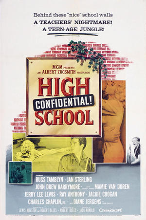 "Poster art for ""High School Confidential."""