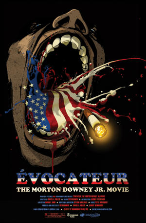 "Poster art for ""Évocateur: The Morton Downey Jr. Movie."""