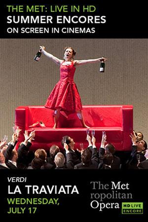 "Poster art for ""La Traviata Met Summer Encore."""