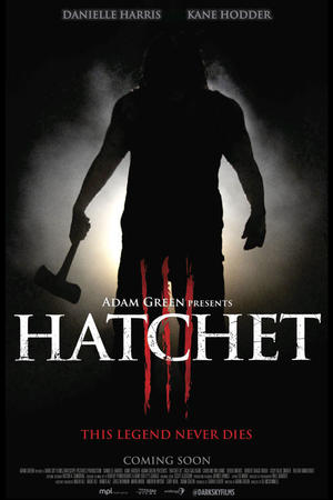 """Poster art for """"Hatchet III."""""""