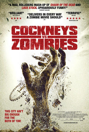 "Poster art for ""Cockneys Vs Zombies."""