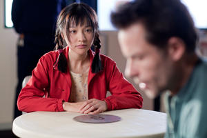 "Zhu Lin as Mei-Mei and Guy Pearce as Dean Randall in ""33 Postcards."""