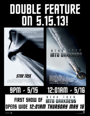 "Poster art for ""Star Trek Double Feature."""