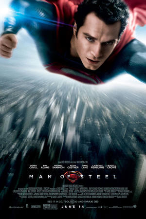"Poster art for ""Man of Steel 3D."""
