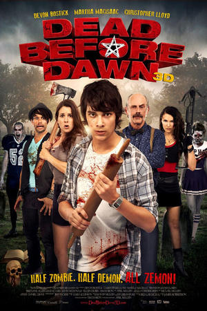 "Poster art for ""Dead Before Dawn 3D."""