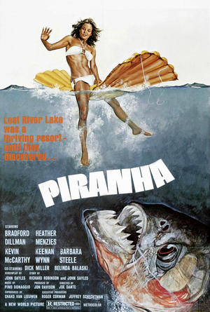 "Poster art for ""Piranha."""
