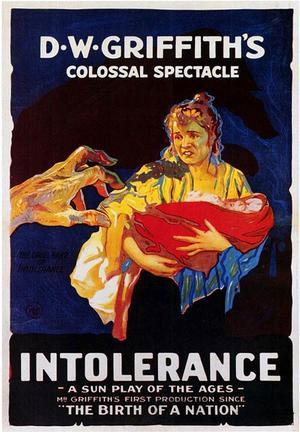 "Poster art for ""Intolerance."""