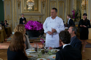 "Jean Reno as Alexandre Lagarde in ""Le Chef."""