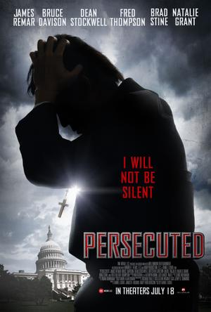 "Poster art for ""Persecuted."""