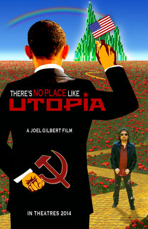 "Poster art for ""There's No Place Like Utopia."""