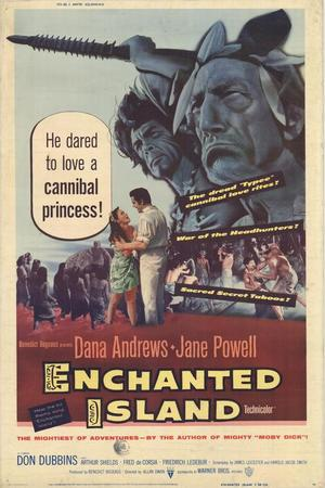 """Poster art for """"Enchanted Island."""""""