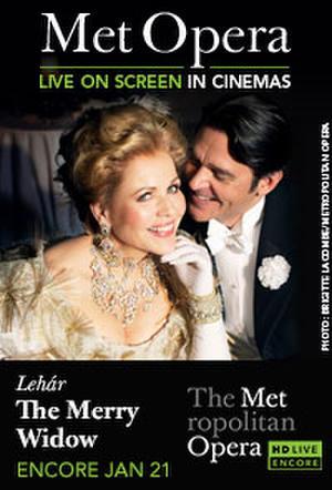 "Poster art for ""The Metropolitan Opera: The Merry Widow Encore."""