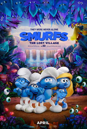 Smurfs: The Lost Village poster art