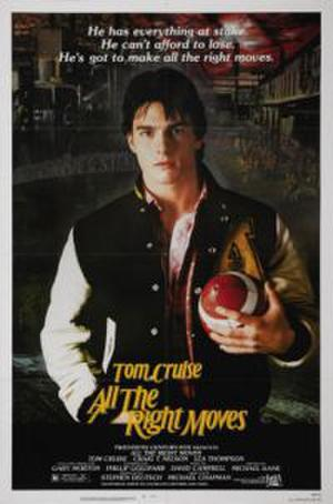 """Poster art for """"All the Right Moves."""""""