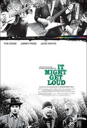 "Poster art for ""It Might Get Loud."""