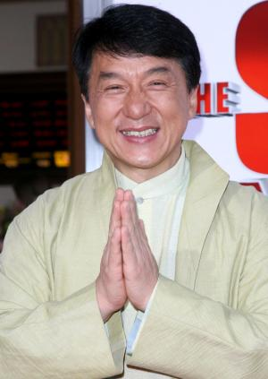 """Jackie Chan at the California premiere of """"The Spy Next Door."""""""