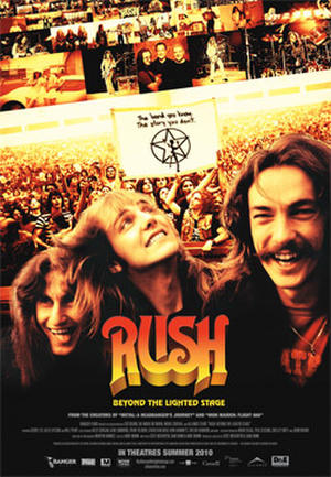"Poster art for ""Rush: Beyond the Lighted Stage."""