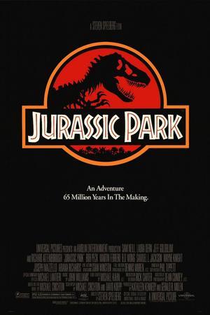 """Poster art for """"Jurassic Park."""""""