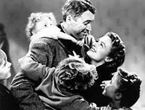 "A scene from ""It's a Wonderful Life"""