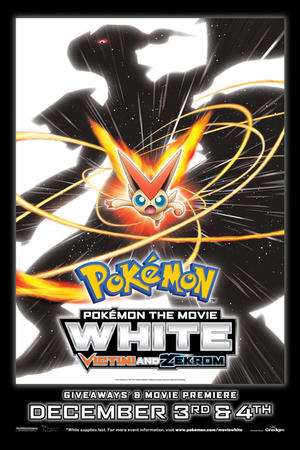 "Poster art for ""Pokemon the Movie: White - Victini and Zekrom."""