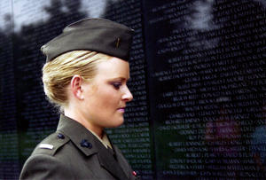 """Elle Helmer in """"The Invisible War."""""""