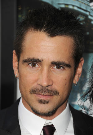 "Colin Farrell at the California premiere of ""Total Recall."""