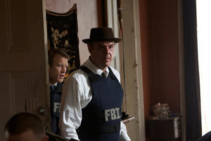 "Danny Huston as Tim Harlend and Mark Valley as Fletcher in ""Stolen."""