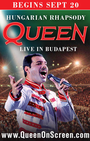 "Poster art for ""Queen - Hungarian Rhapsody: Live in Budapest '86."""
