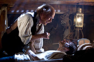 "Tom Hanks as Dr. Goose and Jim Sturgess as Adam Ewing in ""Cloud Atlas."""
