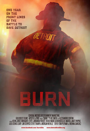 """Poster art for """"Burn."""""""