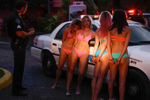 "A scene from ""Spring Breakers."""