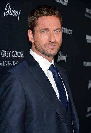 "Gerard Butler at the California premiere of ""Olympus Has Fallen."""