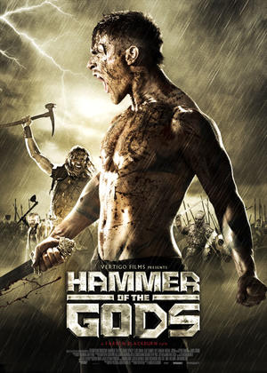 "Poster art for ""Hammer of the Gods."""