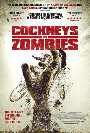 "Poster art for ""Cockneys Vs Zombies."""