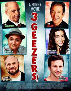 """Poster art for """"3 Geezers!"""""""
