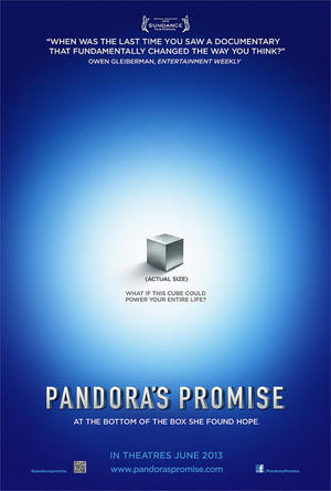 "Poster art for ""Pandora's Promise."""