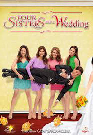 "Poster art for ""Four Sisters and a Wedding."""